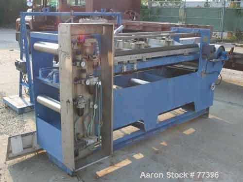 USED: Pannevis horizontal vacuum belt filter, type RT. Approx 1.35square meter filtration area. Stainless/polpypropylene con...