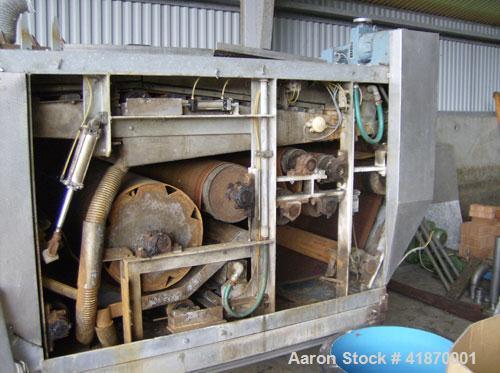"Used- Saltec CP 1200 F Belt Press. 47"" (1200 mm) width, 2.2 hp/1.65 kW motor, HP air cylinder max 145 psi (10 bar), capacity..."
