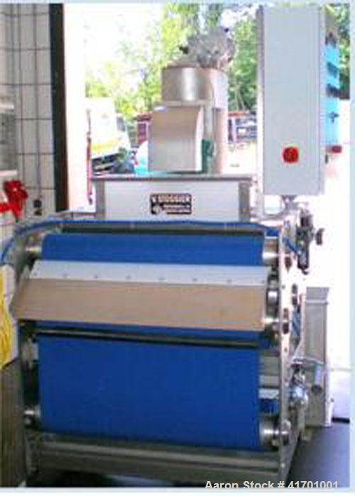 """Used-Stossier EW 1050 Belt Press with elevator and crusher. Stainless steel, belt width 39.4"""" (1000 mm), motor 1 hp/0.75 kW,..."""