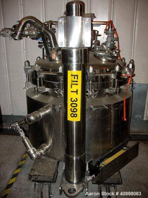 "Used- Northland 36"" Nutsche Filter. Stainless steel construction, 36"" diameter x 24"" deep chamber, rated 36 psi and full vac..."