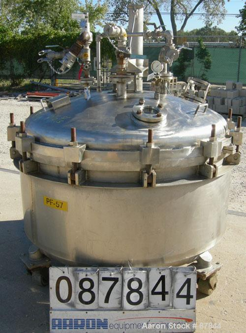 USED: Apache Stainless portable pressure Nutsche type filter, approximately 1.5 square meter, 316L stainless steel. Approxim...