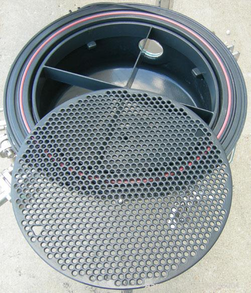 Used- Aurora Filters Halar Lined Nutsche Style Filter, Model A20-H, 316L stainless steel. Filtration area .20 square meter, ...