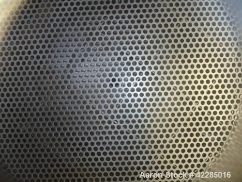 Used- Aurora Filters Nutsche Style Filter, model A26UF, stainless steel. Filtration area 0.34 square meter. Cake thickness 3...