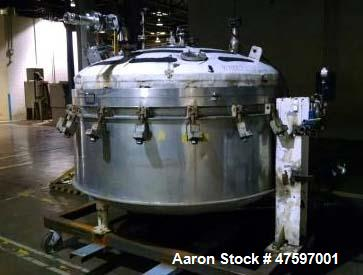 "Used- Baeurle & Morris Nutsche Type Filter. Approximately .5 square meters, 316L stainless steel. Approximately 72"" diameter..."