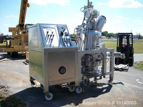 "Used-3V Cogeim Filtrodry 030 FPP SD/FM 0.3 Square Meter Filter Dryer. C22 Hastelloy on all product contact parts. 23.6"" Diam..."