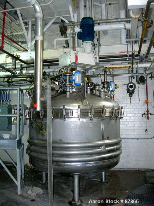USED: Cogeim filter dryer, model FPP-PP-52A, 316 stainless steel product contact areas. Approximately 3 square meter. Intern...