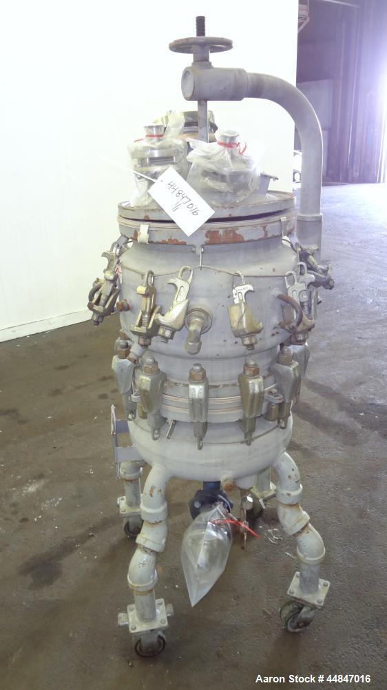 Used- DeDietrich Glass Lined Pressure Nutsche Filter