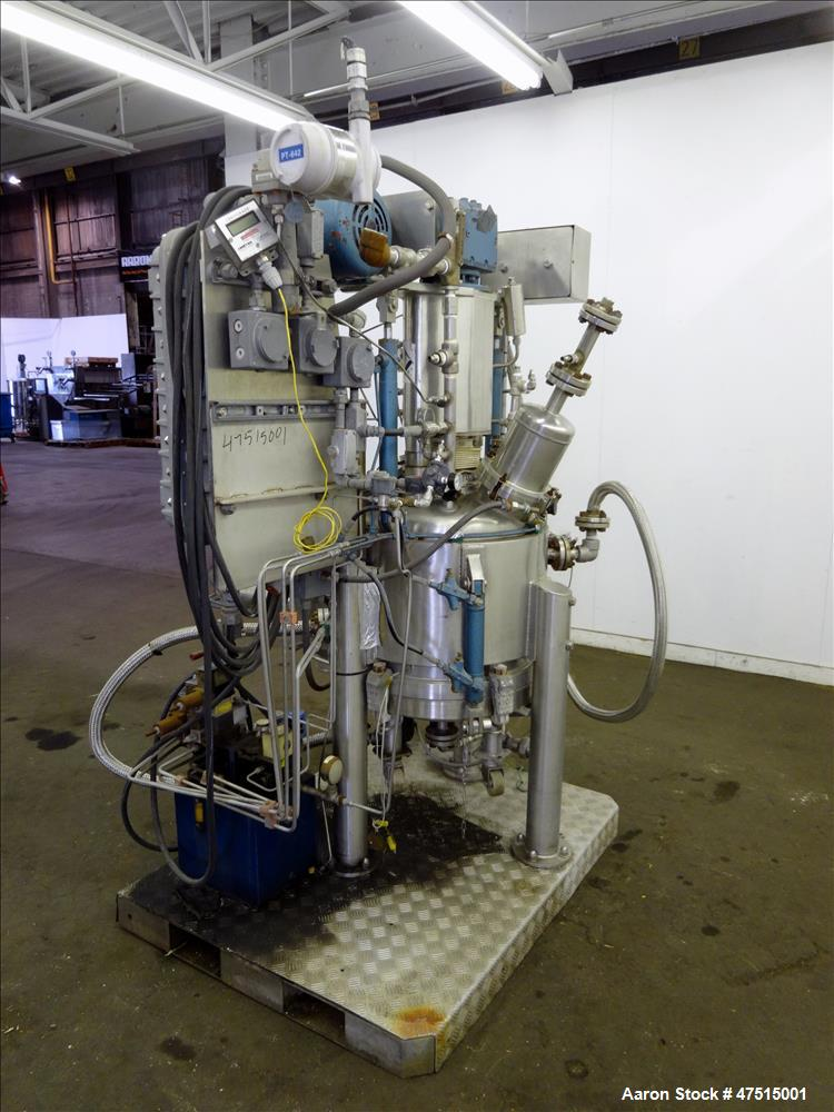 Used- Guedu Pilot Filter Dryer, Approximately .24 meter, 316 Stainless Steel.