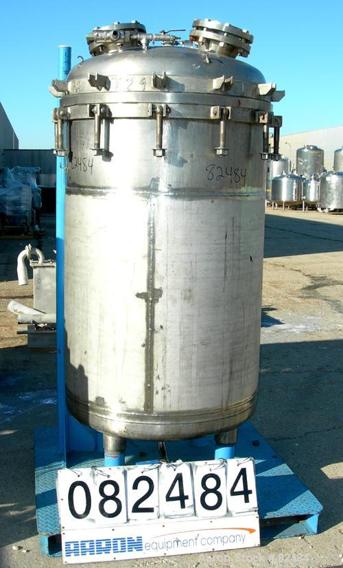 "USED: Ideal Welders Ltd Nutsche type filter, approx 1.5 square meter, 316 stainless steel. 36"" diameter x 54"" straight side...."