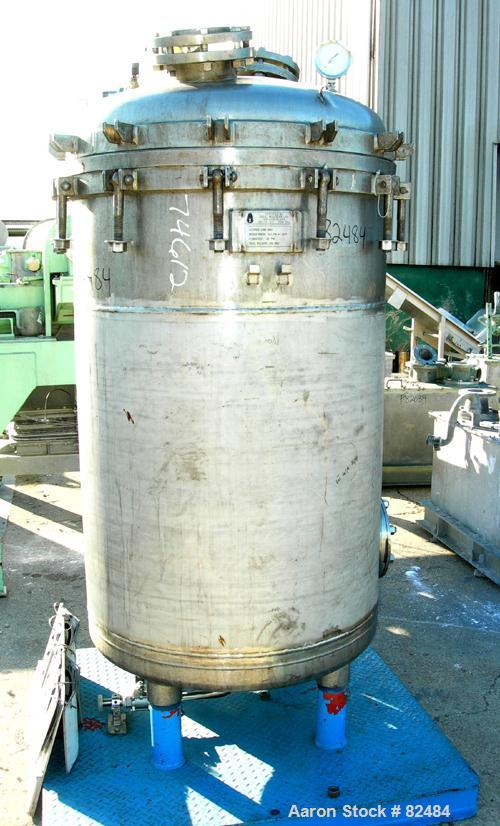 """USED: Ideal Welders Ltd Nutsche type filter, approx 1.5 square meter, 316 stainless steel. 36"""" diameter x 54"""" straight side...."""