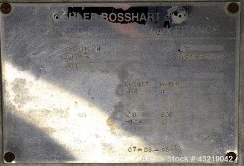 "Used- Koehler Bosshart Nutsche Filter, Approximate 1 Square Meter, 316 Stainless Steel. 48"" (1219 mm) diameter perforated pl..."