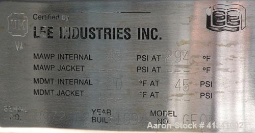 """Used- Lee Industries Nutsche Type Filter, approximate .06 square meter, model GF06, stainless steel. Approximately 22"""" diame..."""