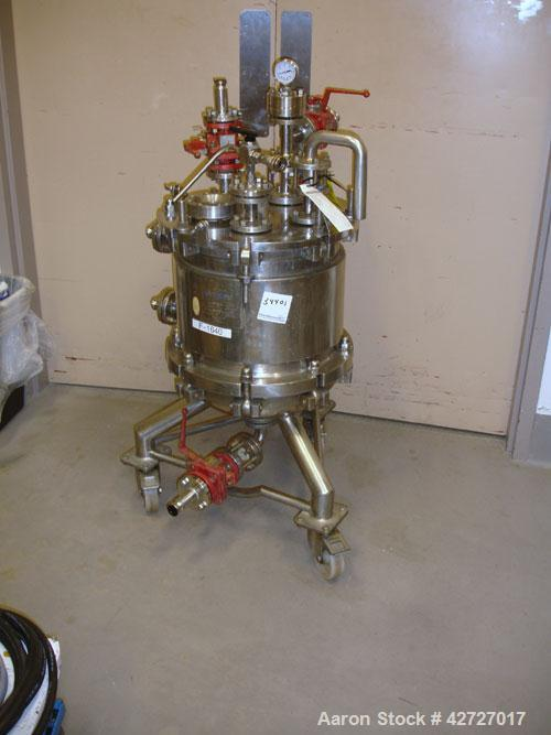 "Used- Steri Technologies Pressure Nutsche Filter, .099 Square Meter, Hastelloy C276. 14"" Diameter x 16"" straight side, flat ..."