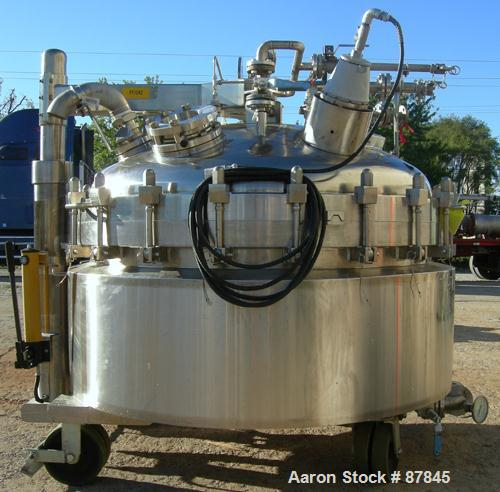 USED: Northland Stainless portable pressure Nutsche type filter, approximately 1.5 square meter, 316L stainless steel. Appro...
