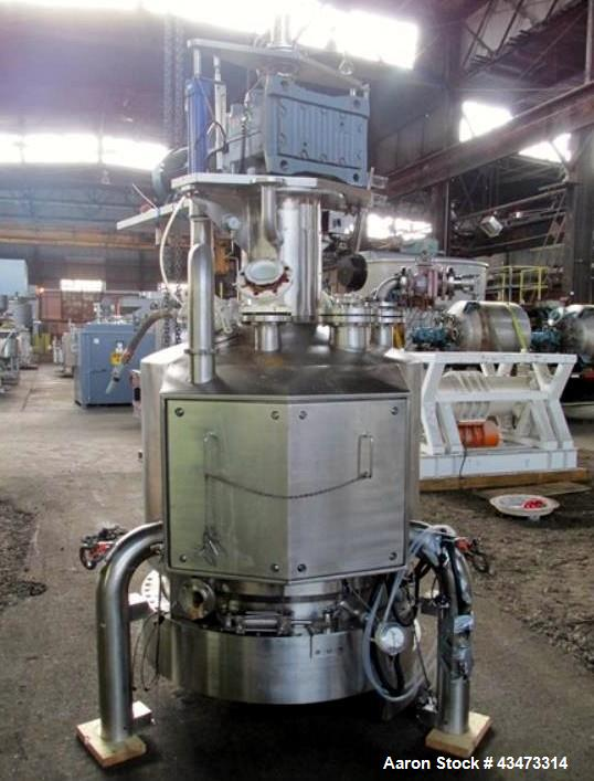 Used- Powder Systems Filter Dryer, 1 Square Meter, Hastelloy C22 product contact surfaces. 316L Stainless steel non contact ...
