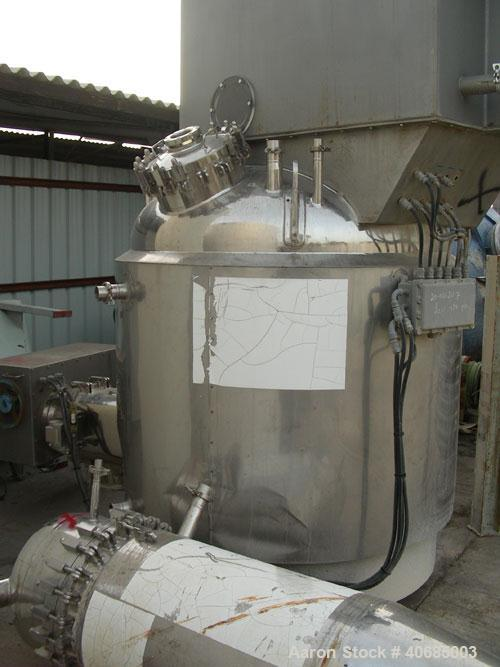 Used-Pressofiltro Agitated Nutsche Filter Dryer, model PF2000. Internal diameter 1600 mm, filtering surface 2.0 mq. Mechanic...