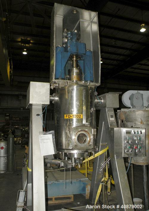 "Used- Rosenmund Filter Dryer, (0.2) Square Meter, 316L Stainless Steel. 19.625"" diameter x 24"" straight side. Dished top, fl..."