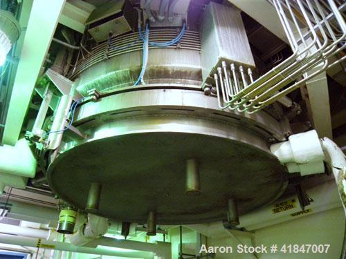 "Used- Rosenmund Filter Dryer, 4 Square Meter, Model 4M2 Side Discharge, 316L Stainless Steel. Approximately 94"" diameter x 4..."