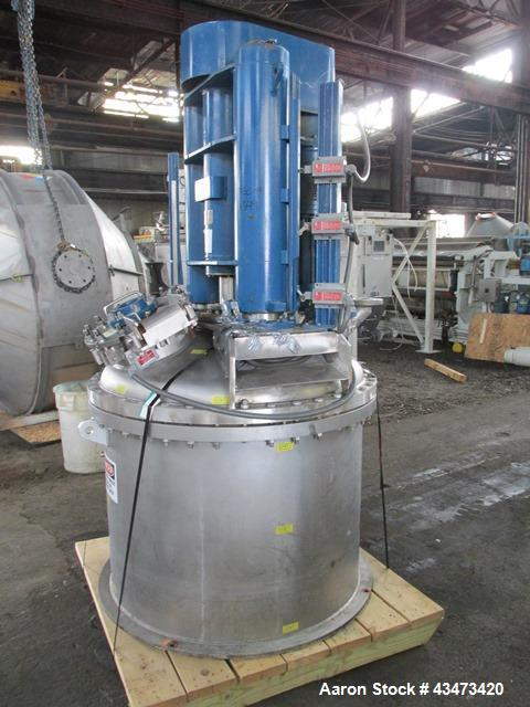 "Used- Rosenmund Nutsche Filter, 1 Square Meter, Model RSD-1-359-85, 316L Stainless Steel. 46"" dia x 26"" straight side. Inter..."