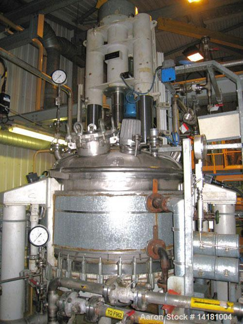 Used-Rosenmund Nutsche Filter Dryer, 1.6 sq m (17 sq feet), built 1989, Model RSD. Material of contruction 316L stainless st...