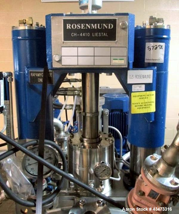 Used- Rosenmund Filter Dryer, 0.3 Square Meter. 316L Stainless steel construction, internal rated 50 psi & Full Vacuum at 35...
