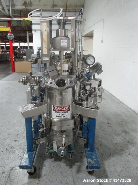 "Used- Rosenmund Agitated Nutsche Filter, 0.2 Square Meter, 316L Stainless Steel. 20"" Diameter chamber rated internal 90 psi ..."