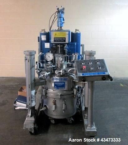 Used- Rosenmund Filter Dryer, 0.25 Square Meter, Hastelloy C22. Internal rated 50 psi & Full Vacuum at 350 degrees F. 304 St...