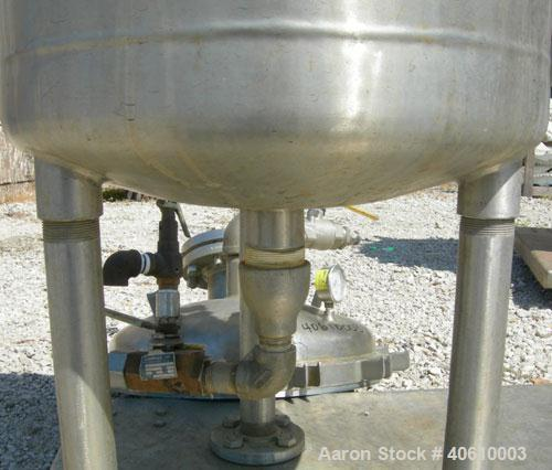 Used- Sparkler Manual Nutsche Filter, model 18'', 316 stainless steel. Vessel 20'' diameter x 20'' deep, dished clamp on top...