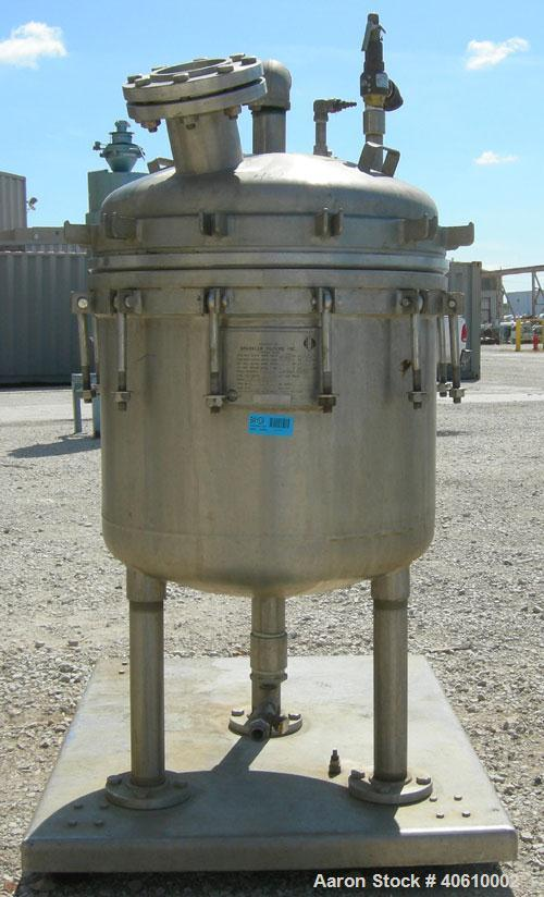 """Used- Sparkler manual Nutsche filter, model 24"""", 316 stainless steel. Vessel 24"""" diameter x 19"""" deep, dished clamp on top, d..."""