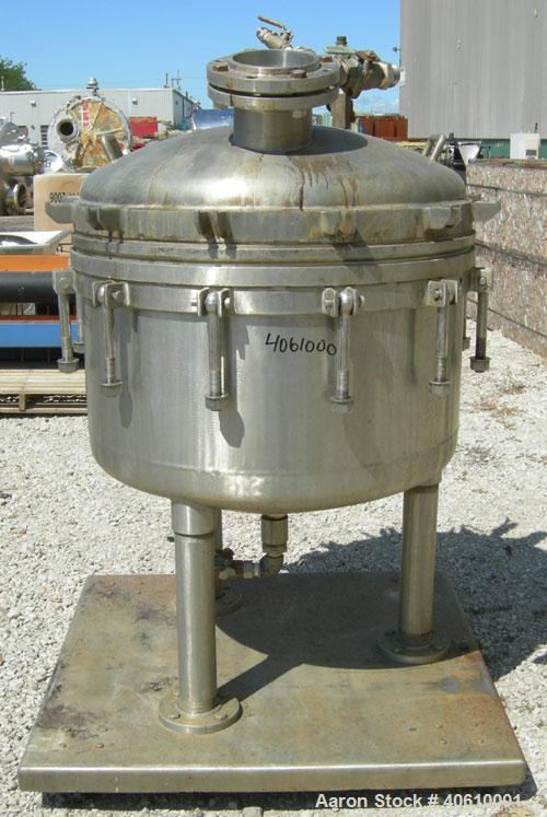 "Used- Sparkler manual Nutsche filter, model 36"", 316 stainless steel. Vessel 36"" diameter x 19"" deep, dished clamp on top, d..."