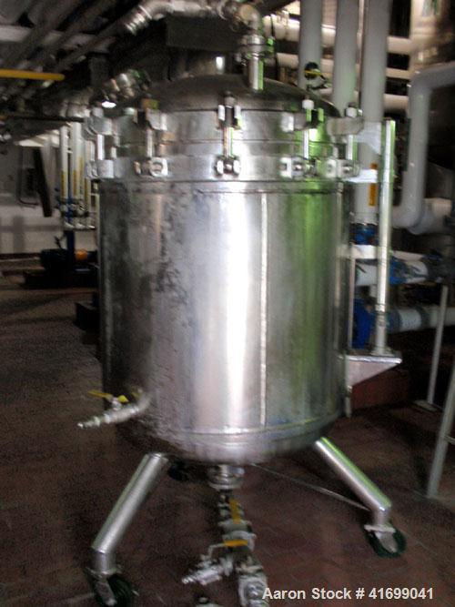 "Used- Sparkler Nutsche Style Filter, 0.6 square meter, model 36"", 316L stainless steel. Internal rated 75 psi at 350 deg F, ..."