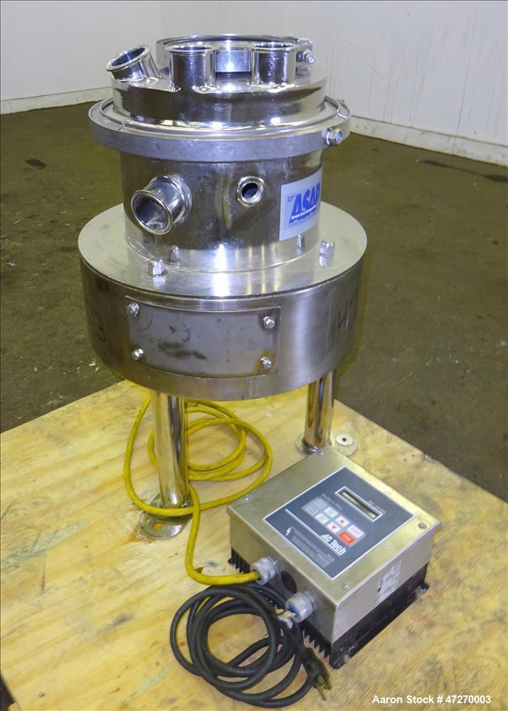 Used- Sweco Pharmasep Lab Filter Dryer, Model PH12, 316 Stainless Steel.