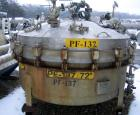 Used- Baeuerle & Morris 72'' Nutsche Filter. Stainless steel construction, 72