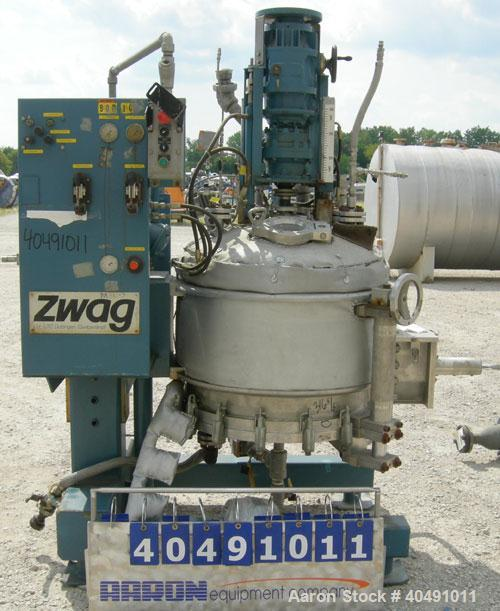 """Used- Zwag filter dryer, .5 square meter, 316 TI stainless steel. Approximately 30"""" (780mm) diameter x 20"""" (522mm) deep, dis..."""