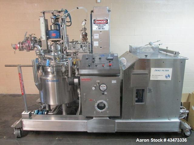 Used- Zwag Nutsche Filter, 0.3 Square Meter. Hastelloy C276 product contact surfaces. Internal rated 50 psi & Full Vacuum at...