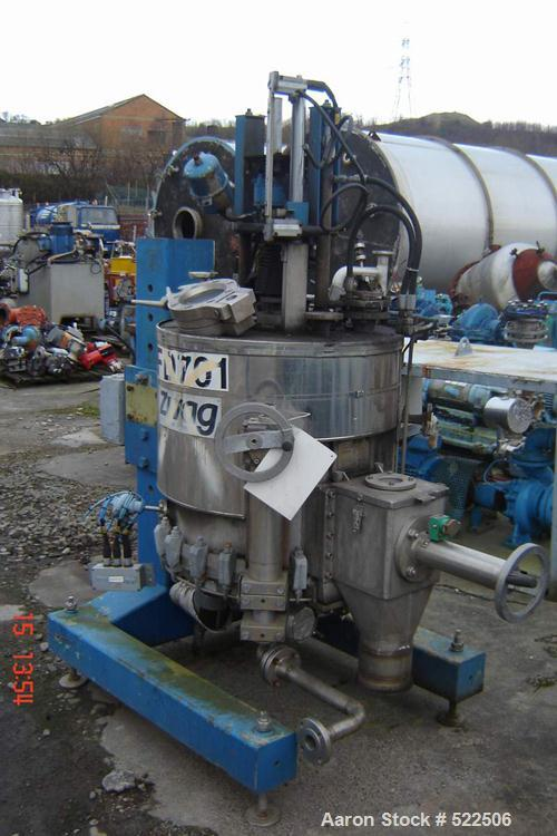 USED: Zwagg lab size Nutsche filter dryer, 0.25 sq m. Material ofconstruction is stainless steel on product contact parts. C...