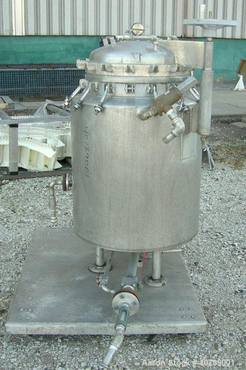 Used- Sparkler Filters Inc Horizontal Plate Filter, Model 18-D-10SP, 316 Stainless Steel. Approximate 16.01 square foot filt...