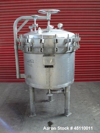 Used-Vestec Moritz (Sparkler) Pressure Leaf Filter Body, Model 33-D-9