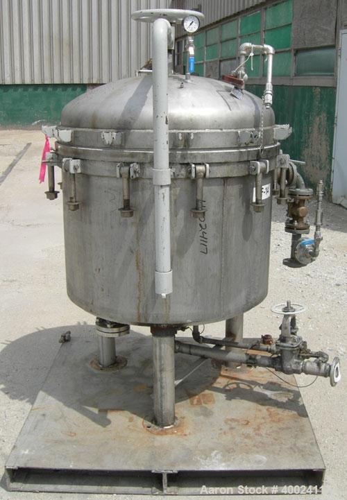Used- Sparkler horizontal plate filter, model 33-D-9, 316 stainless steel, approximate 50.4 square feet   filter area, 7.5 c...