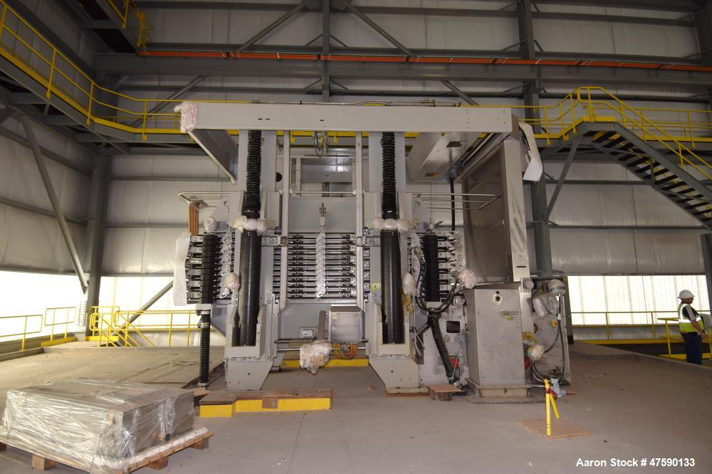 Unused- Outotec stainless steel LAROX PF48 vertical filter press.  Type: PF 72/96 M48 2 33.  S/N 1019 Year: 2011 with contro...