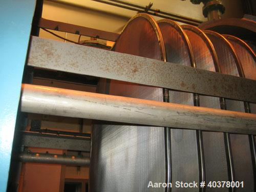 Used-U.S. Filter Filtra-Matic, model 48FM-370. Approximately 370 square feet area, 316 stainless steel construction, horizon...