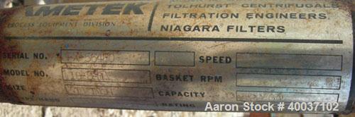 Used- Stainless Steel Ametek Horizontal Plate Filter, Model 18-8-D