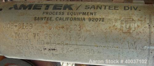 Used- Stainless Steel Ametek Horizontal Plate Filter, Model 18-8-D