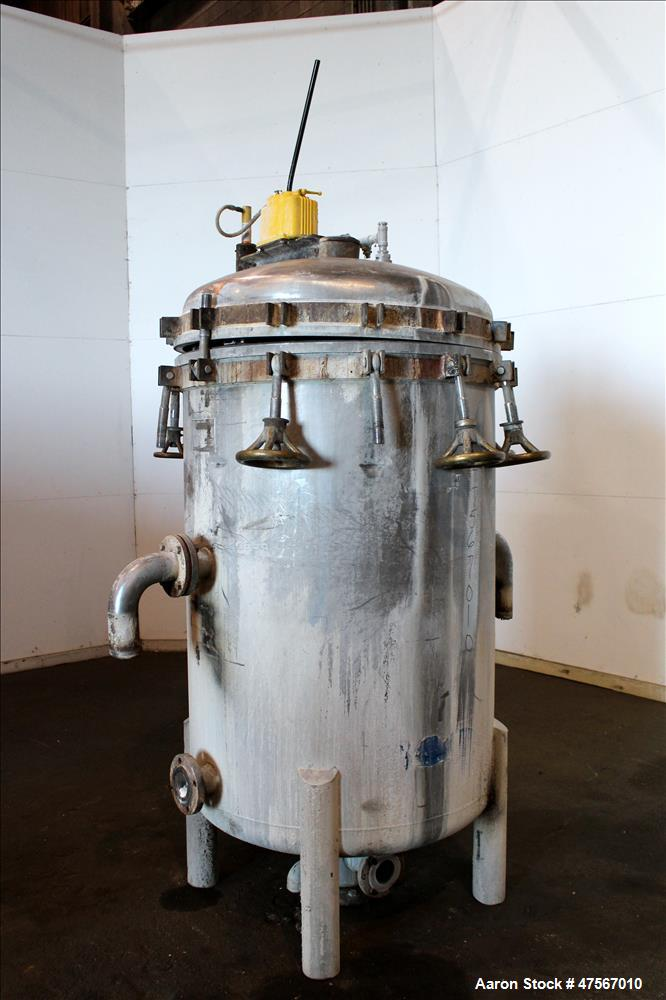 Used- Duriron Enzinger Wet Cake Discharge Vertical Tank & Vertical Filter, Type V, 316 Stainless Steel. Approximate 325 squa...