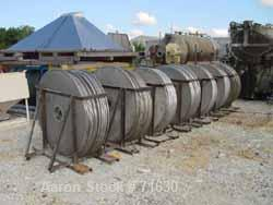 "USED:Idrex Rotojet filter, model VFBD-600. 304 stainless steelconstruction, 600 sq ft filter area. (27) 48"" diameter vertica..."