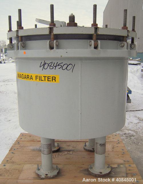 Used- Ketema Niagara Batch-Miser Horizontal Plate Filter, model 33-12-S, 316 stainless steel. 74.44 square feet filter area,...