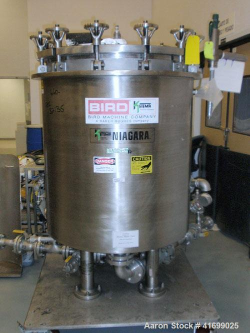Used- Ketema Niagara Horizontal Plate Filter, model 33-24-S/J, 316L stainless steel. 148.9 Square feet filter area, 10.83 cu...