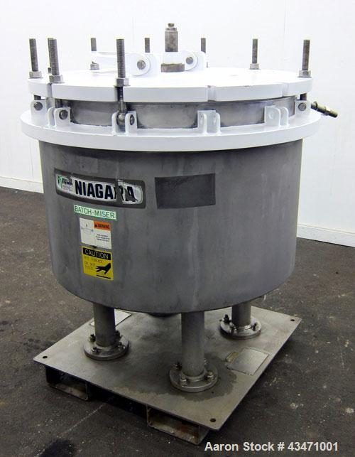 Used- Ketema Niagara Batch-Miser Horizontal Plate Filter, Model 33-8D-SJ