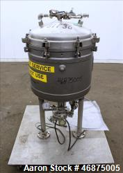 Used- Sparkler Filter Pressure Leaf Filter, Model 18D4, Hastelloy C276, Vertical. 6.44 Square feet filter area, 0.776 cubic ...