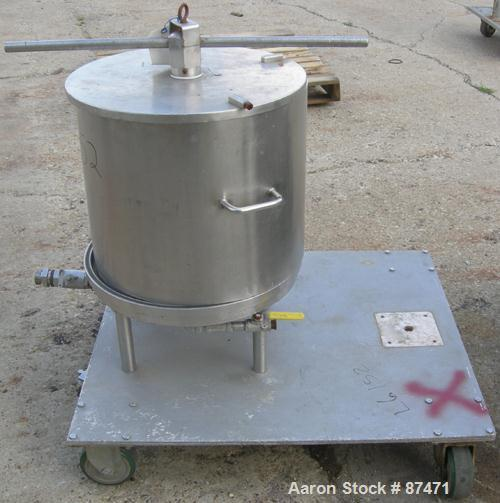 Used- Stainless Steel Horizontal Plate Filter